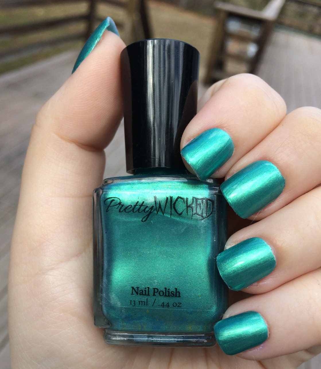 Greenish Blue Nail Polish, Eden Polish, Green Nail Polish