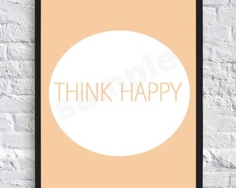Happy, Positive, Wall Art, Digital Print