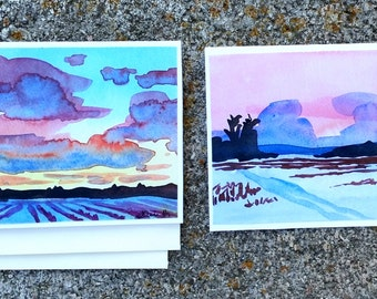 Western NY Winter Cards - Set of 2 Prints