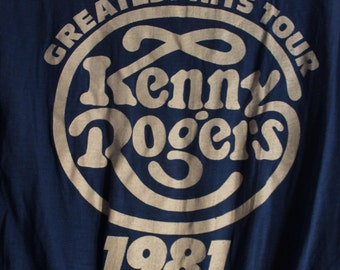 SALE!! Kenny Rogers Concert T Shirt! 1981 Authentic Vintage! Kenny Rogers ~ Greatest Hits Tour 1981 Size Large