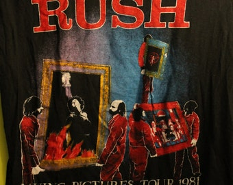 RUSH Concert T Shirt! Authentic Vintage 1981 Moving Pictures Tour!