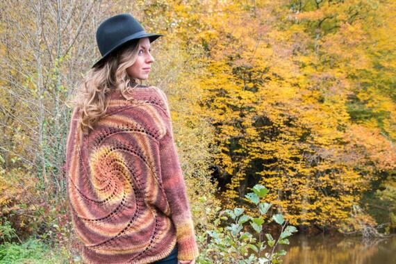 Cozy Spiral Bat-wing Sweater