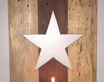 Country Star Candle Holder