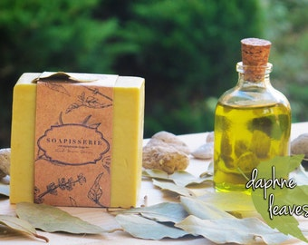 Natural Daphne and Olive Oil Soap- Daphne Soap- %100 Olive Oil&Daphne Soap- Vegan Soap- !!!BUY5 GET 1 FREE!!!