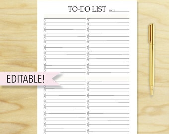 To-Do List Printable, To Do list Planner, To Do List Notepad, To Do List Notebook, printable planner pages, A5, A4, Letter, PRINTABLE PDF