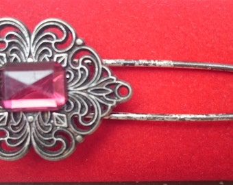 Vintage Brooch with red stone