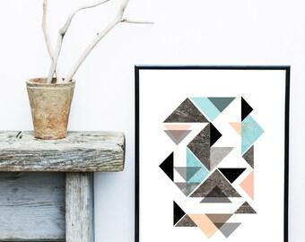 Textured Art Print,  Geometric Wall Art, Abstract Art Print, Scandinavian Design,  Art Print,  Giclee print, Modern Wall Art,  Large Print