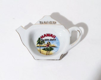 Vintage Tea Bag Holder Hawaii, Tea Lover Gift, Hawaii Gift