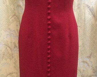 Ann Taylor Red Gown Size 4