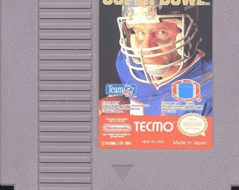 Tecmo Super Bowl Nintendo Nes Game - Tested and Working - Video Game