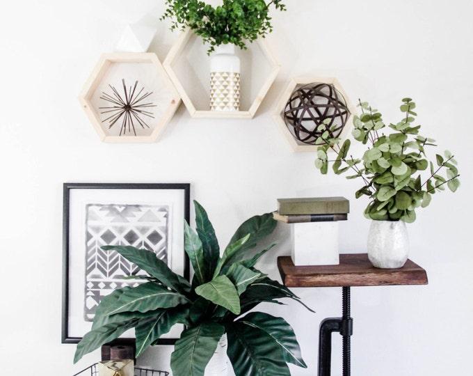 Honeycomb - Wood Shelf TRIO [Sm. Med. Large]