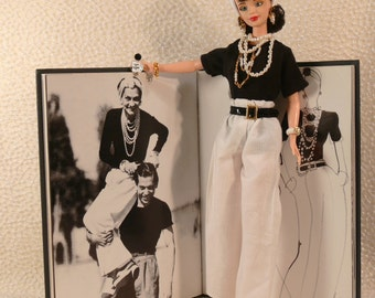 Coco Chanel at Deauville FRANCE Custom OOAK Doll Menswear Style