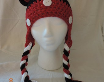 ON SALE** Minnie mouse inspired crochet hat