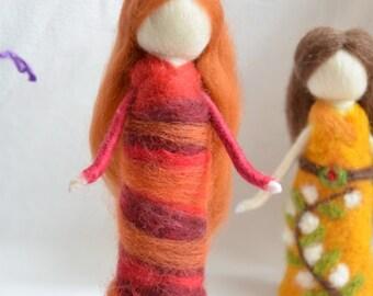 Waldorf inspired Wool Fairy, needle felted - Hawthorn fairy