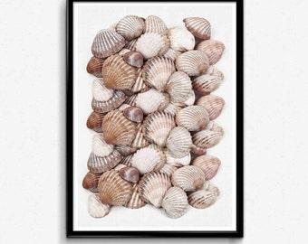 Coastal Beach Print, Coastal Art Decor, Sea Coral Prints, Beach House Decor, Beach Decor, Bathroom Art, Bedroom Decor, Nautical Living Room