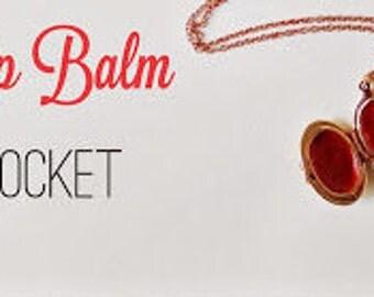 Lip balm Locket on a Keychain!