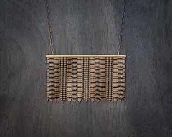 Short Fringe Necklace - Brass
