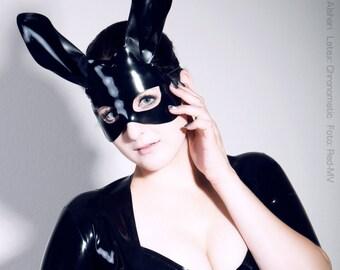 Bunny Latex Mask - Evil Rabbit - Chronomatic Luxury Latex Wear