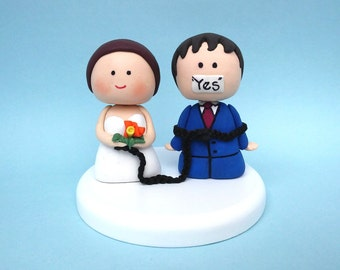 cartoon wedding cake toppers present toppers etsy 12421