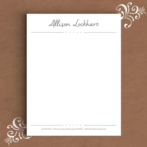 letterhead template for word diy custom letterhead personalized