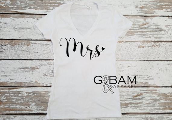 Mrs T-Shirt / Bride Shirt / Bridal Shirts