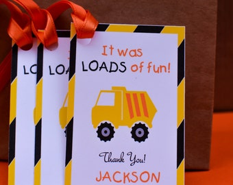 Construction Birthday Party Decorations Dump Truck Party Theme Construction Theme Birthday Favor Tags Construction Trucks Favors