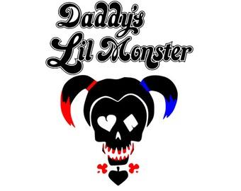 Daddy's Lil Monster Shirt, Suicide Squad Tshirt, Joker, Harley Quinn Shirt, Marvel Inspired Tshirt, Super Hero Tshirt