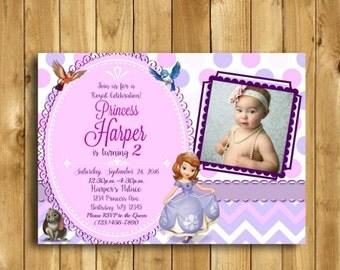 Sofia the First Invitation, Princess Sofia Invitation, Princess Birthday Invitation, Sofia the First Birthday, Sofia DIGITAL  5x7