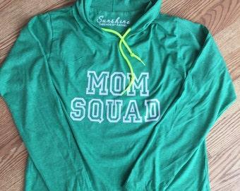 Mom Squad lightweight hoodie