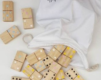 Dominoes - Handmade Wooden Educational Building Blocks - NOVEMBER PRE ORDER