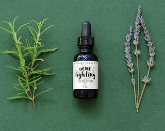 Organic Acne Fighting Facial Serum - Acne Treatment - Organic Acne Serum - Organic Face Oil - Vegan Face Oil