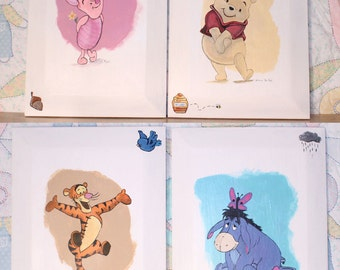 Hand painted - Winnie the Pooh Characters