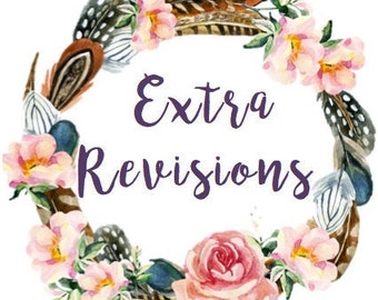 Extra revisions for your customised invitation