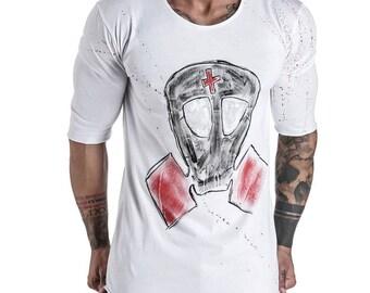 GasMask T-Shirt 3/4 Sleeve