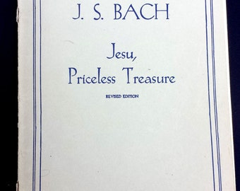 Antique Music Songbook, Vintage Music Songbook, JS Bach Jesu Priceless Treasure, 98 Years Old Songbook, Collectibles, Antique Music Sheet,