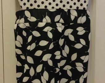 Full Apron Black and White/Upcycled