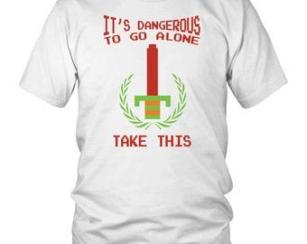 "The Legend of Zelda ""It's Dangerous To Go Alone"" - Men's T-Shirt"