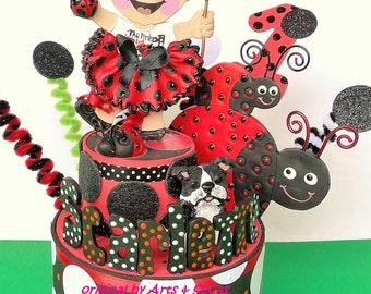 Ladybug party Birthday Cake topper Party centerpiece