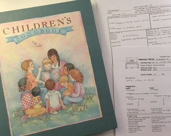 LDS Primary Singing Time Planners (Monthly/Weekly)