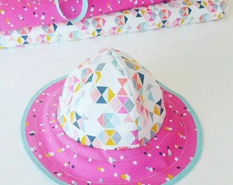 SEWING PATTERN - Kids reversible Sun Hat