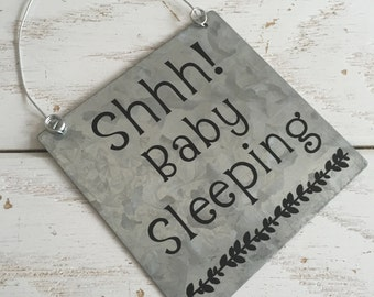 Baby Sleeping - Do Not Disturb Shhh It's Nap Time No Solicitation Sign Door Decor No Soliciting Sign Door Sign Quiet Baby Sleeping Sign