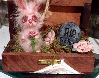 Little Bunny Foo Foo's Death Art Creature Mini Sculpture by Necessary Nonsense