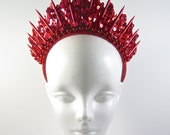 Ruby Red Blade Handmade Crown - by Loschy Designs