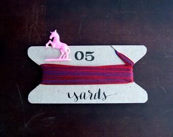 Mystic Red Ribbon, 5 Yards Fancy Ribbon, Gift Packaging, Gift Wrapping Ribbon, Purple Silky Iridescent, Bohemian Rhapsody