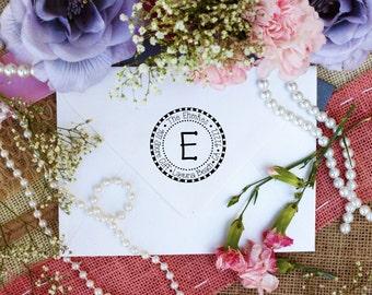 Personalized Custom Return Address Rubber Stamp, Wood Block, Clear Block, Monogram Wedding Address Stamper, Self Inking, Ink Pad --2210