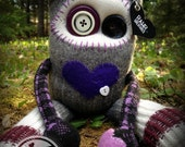 RAWR Sock Creature – Purple Plaid