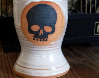 Skull Pint Glass or Tumbler in Shale - Made to Order