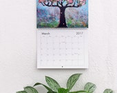 Wall Calendar 2017, Tree of Life Art, Holiday Gifts, Office Wall Decor, Teacher Gift, Hostess Gift, Limited Edition by Blenda Tyvoll