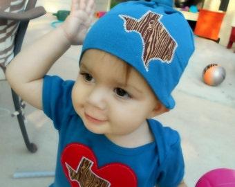 Texas Baby Organic Infant Bodysuit and Beanie Gift Set