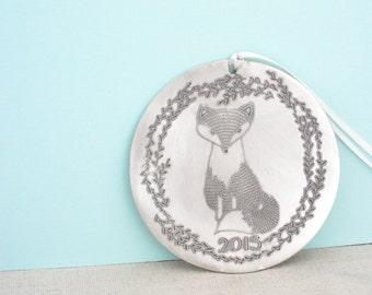 Christmas Ornament 2016  - Woodland Ornament - Fox Christmas -Wedding Gift